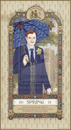 karadin:  Mycroft Spring 2012 - detail of SH Seasonal Calendar by Karadin Images of Victorian London. (Sherlock, John and Lestrade with other seasons) 50% off Photo Print Sale!at my print shophttp://karadin.deviantart.com/prints/ tees, hoodies with this image http://www.printfection.com/karadin Jewelry with this image http://www.etsy.com/shop/Karadin