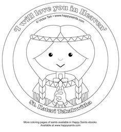 Happy Saints: Coloring Pages of St. Pedro and St. Kateri!