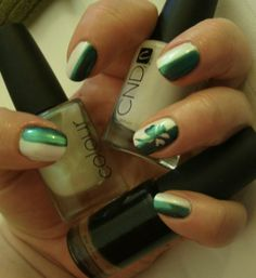 Nail art for St Pat's Day!