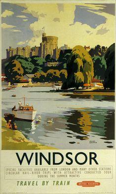 Travel europe by train vintage posters 52 trendy ideas British Railways, Europe Train Travel, Art Nouveau Poster, Retro Pictures, Railway Posters, Windsor Castle, By Train, Art Graphique, Poster Prints