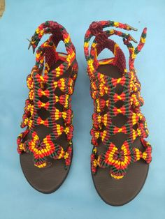 Newest edition to my macrame sandals collection
