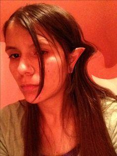 Rockin' my fake elf ears! Sigh...