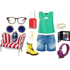 A fashion look from August 2013 featuring cut out shirts, distressed denim shorts and patent leather booties. Browse and shop related looks. Distressed Denim Shorts, Ermanno Scervino, Shiseido, Kiss Me, Lanvin, Essie, Madewell, Joseph, Patent Leather