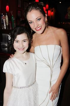 Laura Osnes and Lilla Crawford at Opening Night of #Annie on #broadway