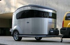 Nissan/Airstream Basecamp tent trailer.  It may not look like much in this images, but I've seen these things in real life and they are really cool.