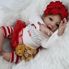 22″ Silicone Reborn Baby Dolls Real Look Baby Alive Soft Girl Doll Christmas Toys Gift