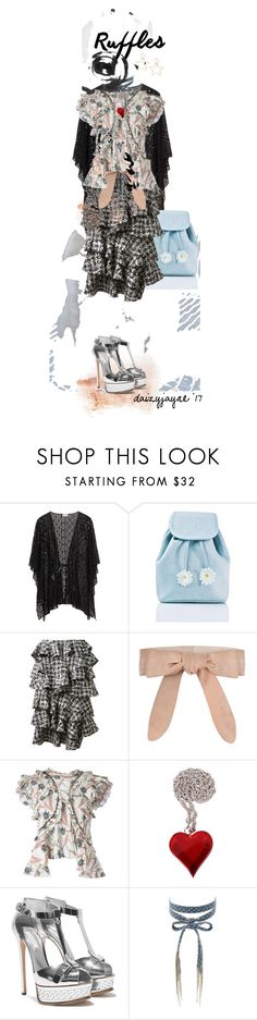 """ruffles"" by daizyjayne ❤ liked on Polyvore featuring Sugarbaby, Lanvin, Zimmermann, Isabel Marant, Chan Luu, contestentry and ruffledtops"