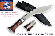 Authentic Gurkha Knife  12 Blade World War II the Survival alive Kukri Full Tang with Black Leather SheathHandmade by Gurkha Kukri HouseGKH in Nepal Warehoused  Ship from USA *** Click image for more details.