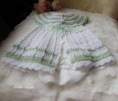 VillaTuta: Virkattu vauvan mekko Baby Dress, Crochet Baby, Boho Shorts, White Shorts, Dresses, Women, Fashion, Vestidos, Moda