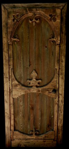 Antique Door With Fleur De Lis.