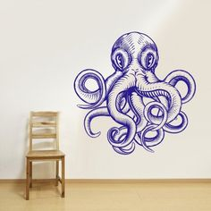 Wall Decal Vinyl Sticker Decals Octopus Sprut Poulpe Delfish Tentacles Z2669 -- Want additional info? Click on the image.