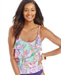 63.75$  Watch here - http://viwip.justgood.pw/vig/item.php?t=j3pyjc4778 - Miraclesuit Paisley-Print Tiered Ruffle Pink Size 8 $110 NWT