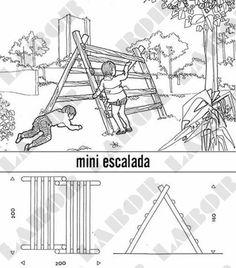 Playground e Parquinho em tronco de Eucalipto e Madeira | Labor Playground