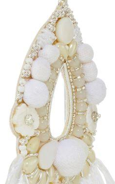 Raffia Fan Keyhole Earrings by Ranjana Khan | Moda Operandi