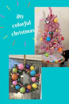 Learn how to create a pink colorful Christmas theme for your home. All you need is some acrylic paints, clear ornaments, and creativity! Check it out on passportsandpapers.com Pink Christmas Tree, Merry Christmas To All, Christmas Themes, Christmas Lights, Holiday Decor, Cricut Banner, Clear Plastic Ornaments, Best Housewarming Gifts, Merry And Bright