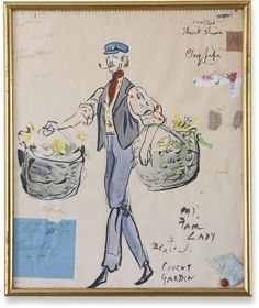 "Sir Cecil Beaton | COSTUME STUDY FOR A FLOWER SELLER IN ""MY FAIR LADY"" Signed Beaton and inscribed My Fair Lady Covent Garden (lower right)"