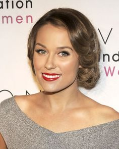 Indulge your crop-cut craving without snipping a strand: Lauren Conrad's faux bob is the ideal fix on a hot summer night. For a classic touch, add a vintage-inspired barrette on the side like Conrad did—antique hair accessories are in for summer (see 	Dolce & Gabbana's spring 2010 runway for inspiration).