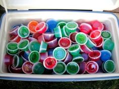 Jello Cooler. What a cute summer idea!