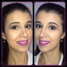 Maquiagem da @makeupbyrenatafarias usando a base e o pó da linha Stay Matte but not Flat