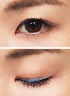小粒目さんに似合うカラーシャドウはブルー! 伏し目がちでキマる ... Image title