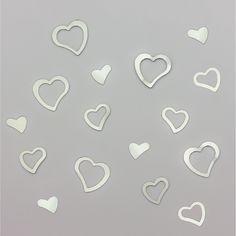 Herz Konfetti Tischdeko Liebe Romantik Hochzeitsdeko - silber in Dekoration  • Konfetti