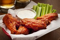 Try this original spicy Buffalo chicken wings recipe from the Anchor Bar in Buffalo, NY using cayenne and Tabasco for heat. Pollo Buffalo, Buffalo Chicken, Cooking Chicken Wings, Chicken Wing Recipes, Buffalo Wings, Fries In The Oven, Living At Home, Chipotle, Tandoori Chicken