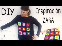 YouTube Crochet Granny, Crochet Motif, Diy Crochet, Crochet Patterns, Zara, Knitting Videos, Christmas Sweaters, Diy And Crafts, Sewing