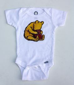Classic Pooh Inspired Shirt or Onesie.  via Etsy.
