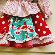 Girls Christmas Skirt Retro Twirly CHOOSE by reimaginedtreasures, $45.00