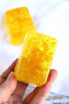 Lemon Soap - DIY Soap Recipe - Refreshing Lemon Zest soap makes a great DIY gift! #soap #soapmaking #crafts #diygifts #MothersDay #lemon #homemadesoap
