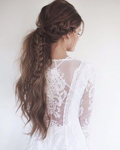 Boho chique braid for brown long hair. Absolutely perfect!