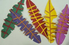 Art. Paper. Scissors. Glue!: Turkey Feathers