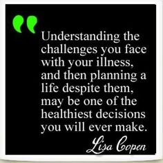 Understanding the challenges you face due to a chronic illness & planning accordingly... I'm still trying to figure this out!