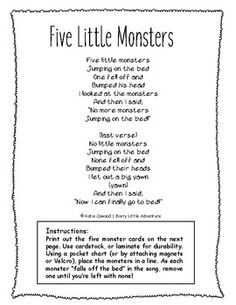 Places To Travel Alone Country Preschool Poems, Kindergarten Songs, Fall Preschool Activities, Preschool Learning, Monster Activities, Nursery Rhymes Lyrics, Nursery Songs, Songs To Sing, Kids Songs