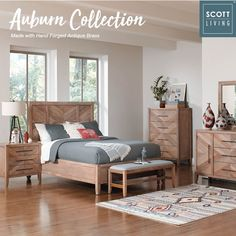 The classic hand made design made with washed natural wood gives our Scott Living Auburn Collection its unique look! (Item# 204611Q)   #ScottLiving #SLByCoaster #Decor #HomeDecor  #HomeImprovement #HomeMakeover #HomeFurnishing #HomeGoals #InteriorDesign #Interior123 #InteriorDecor #HomeStyle #HomeInspiration #HomeInspo #DesignInspo #FurnitureDesign #Bedroom #BedroomDecor #MasterBedroom #Bed #Nightstand #Dresser #Chest #CoasterCompany #Coaster