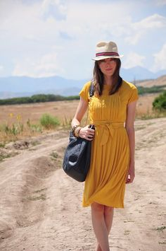 84 Thread Ethic | Modest Fashion Blog///not sure about the hat but ILOVE the dress for summer it