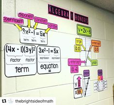 Ms. Terry's math word wall Maths Classroom Displays, Maths Display, Math Classroom Decorations, Seasonal Classrooms, Math Wall, Math Word Walls, Math Vocabulary Words, Math Words, High School Classroom