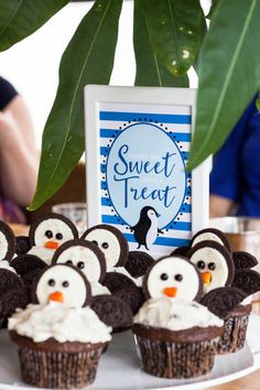Babies Are Sweet Table Sign Penguin Baby Shower by MKKMDesigns