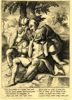 Proverbs after Karel van Mander (1592), Nicolaes Braeu. Dutch print, British Museum 1854,0513.179