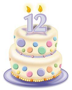 Happy Birthday Clip Art, Happy 12th Birthday, Birthday Clips, Art Birthday, Happy Birthday Greetings, Princess Birthday, Birthday Greeting Cards, Birthday Blessings, Birthday Wishes