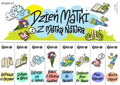 Kupony na Dzień Matki- kolor | Rysopisy Bujo, Diy And Crafts, Parenting, Journal, Teaching, Education, School, Day, Funny
