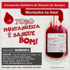 Campanha de Doação de Sangue - Montanha na Veia - Trekking Brasil