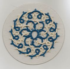 This motif is called Interlaced Medallion and is from Judith Conners book Creative Tatting with beads, shuttle, and needle. The book also goes by the name Tatting Adventures with Beads, Shuttle, and Needle