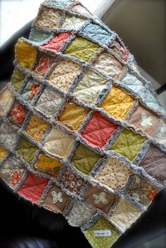Urban Cowgirl Applique Shabby chic Rag quilt by chasitypetersen, $79.50