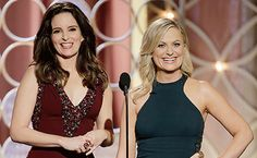 Tina Fey and Amy Poehler at the #goldenglobes