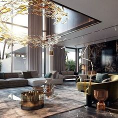 Stylish Luxury Living Room Design Ideas With Modern Home Accent Luxury Homes Interior, Luxury Home Decor, Living Room Modern, Interior Design Living Room, Contemporary Living Room Designs, Living Area, Living Room Inspiration, Modern House Design, Luxury Living