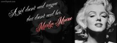 Marilyn Monroe Quotes | ... Monroe Quote A Girl Doesnt Need Anyone FB Cover, Marilyn Monroe Quote