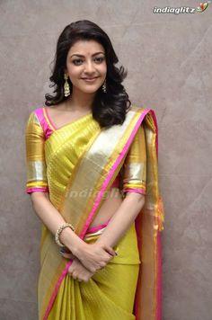 7155ee7c0e1 Kajal Aggarwal Stills At Trisha Designer Store Launch In Banjara Hills -  South Indian Actress