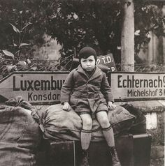 Lee Miller, Boy Refugee, Luxembourg, 1944.