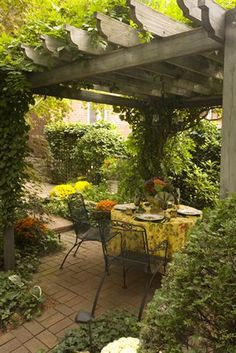 lovely trellis-covered patio